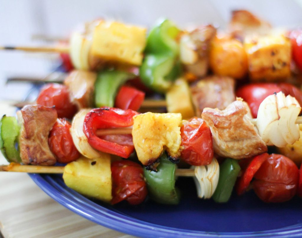 Tropical Turkey Kabobs