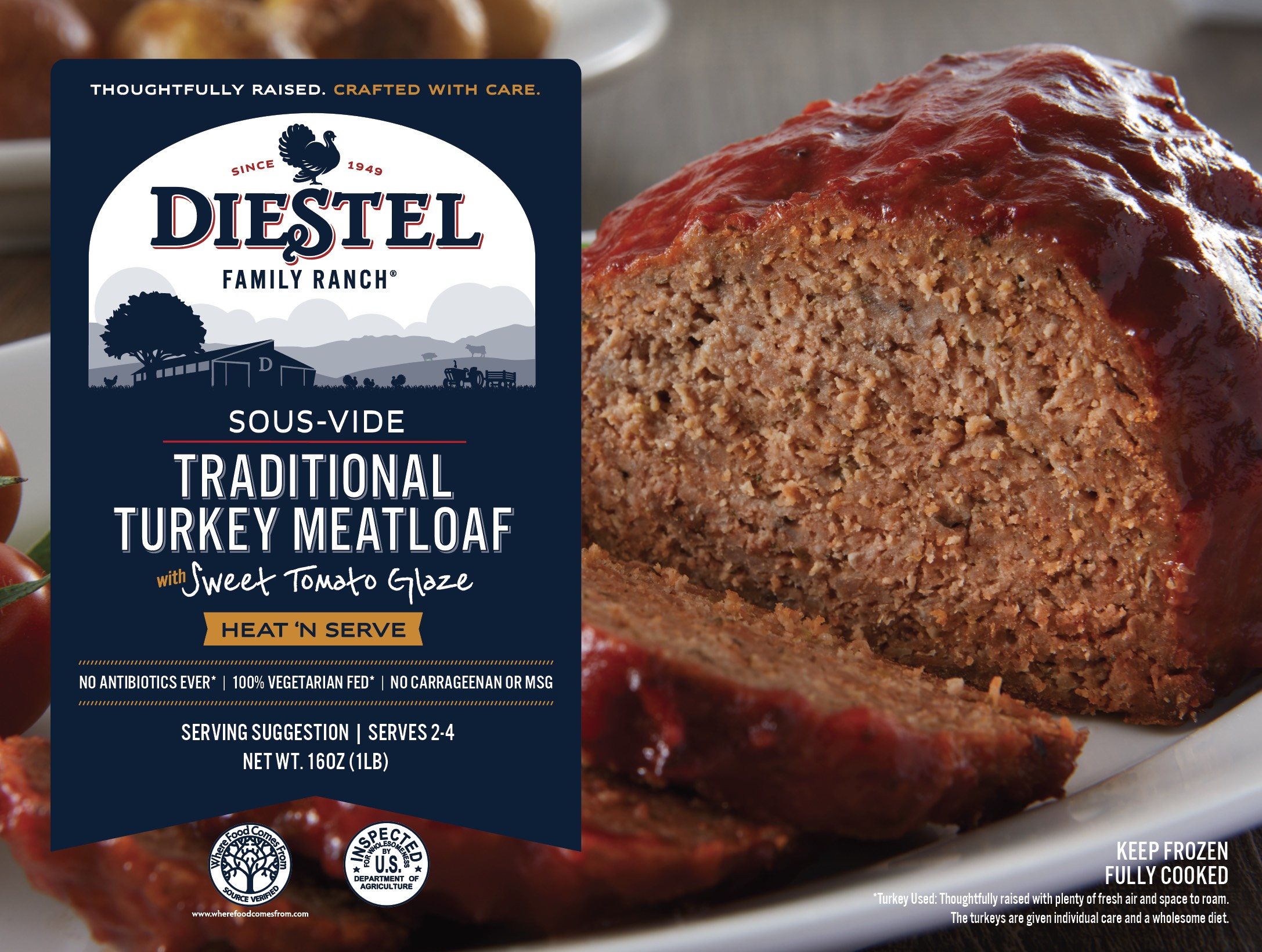 Traditional Sousvide Meatloaf Diestel Family Ranch
