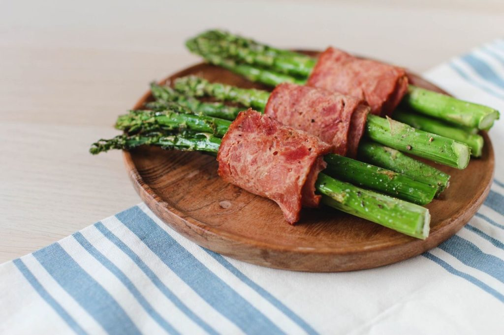 Turkey Bacon Wrapped Asparagus