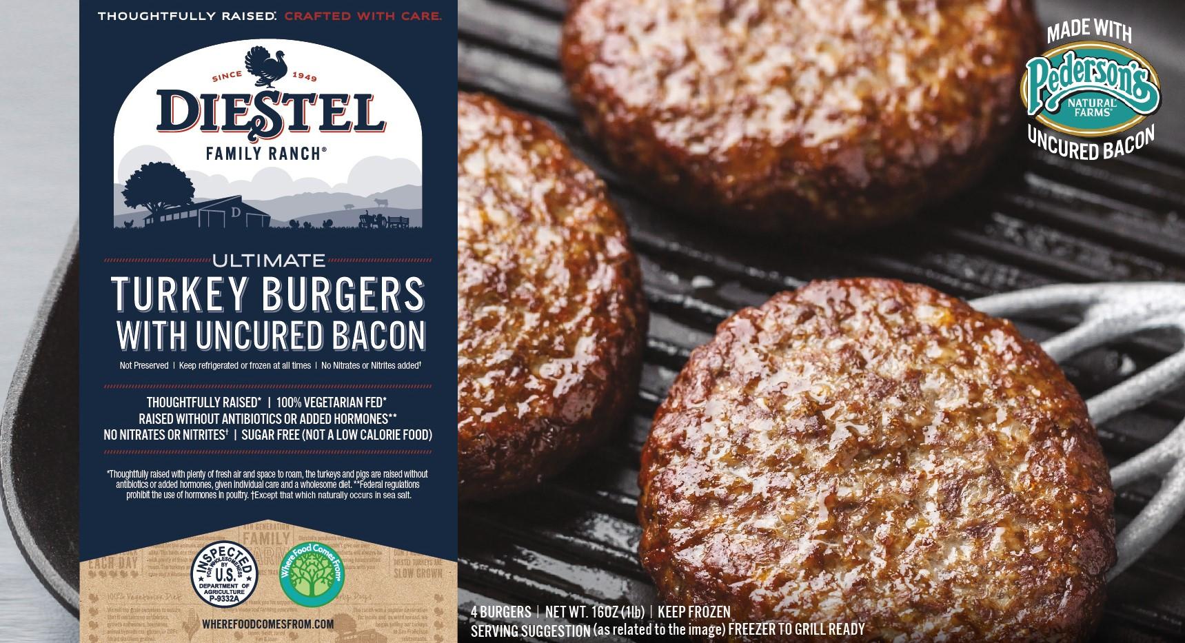 diestel family ranch turkey bacon burger