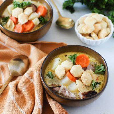 Diestel Smoked Turkey Thighs and Potato Soup