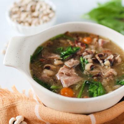Smoked Turkey Leg Black Eyed Pea Soup